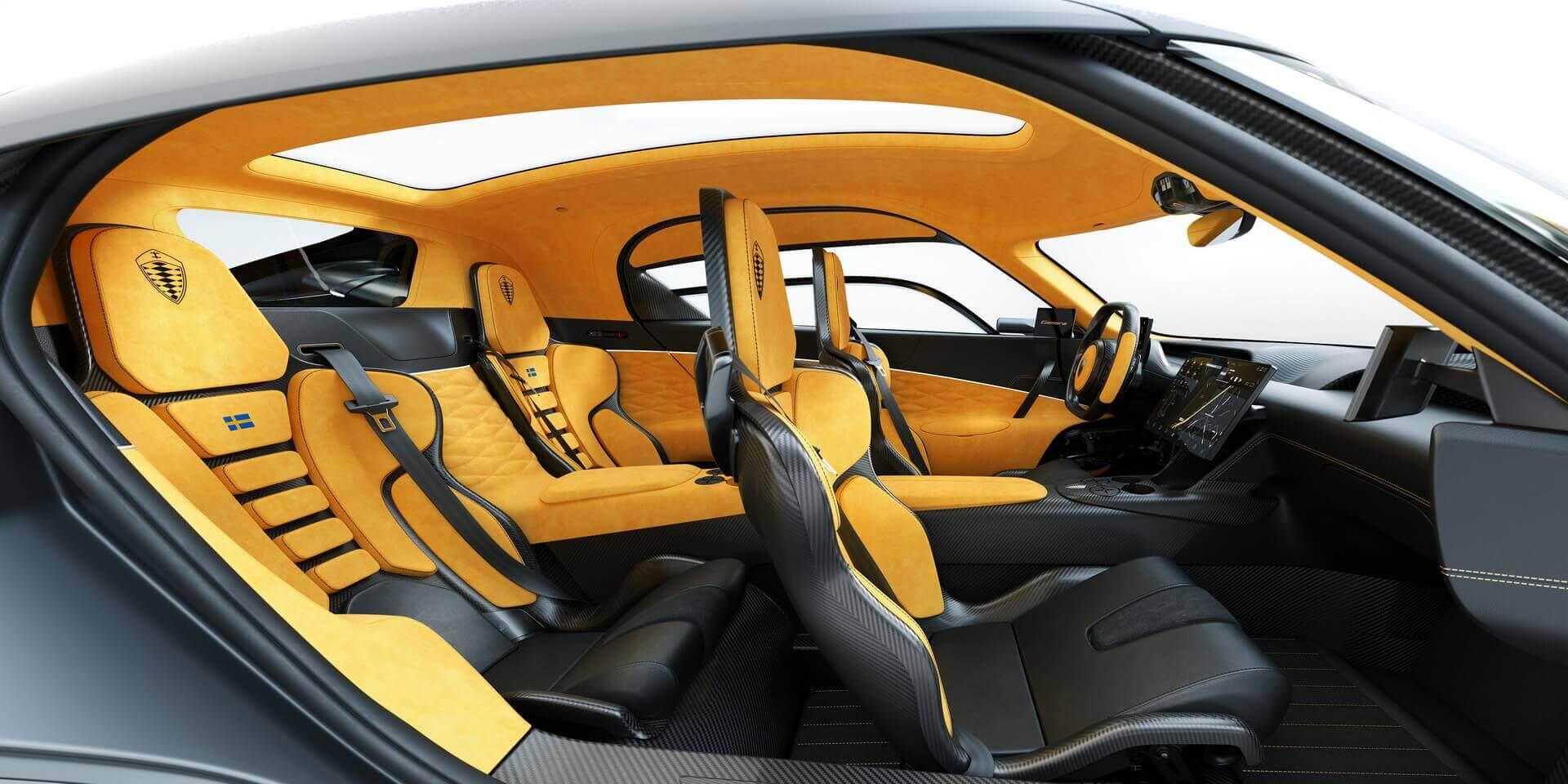 Четырехместный гибридный гиперкар Koenigsegg Gemera