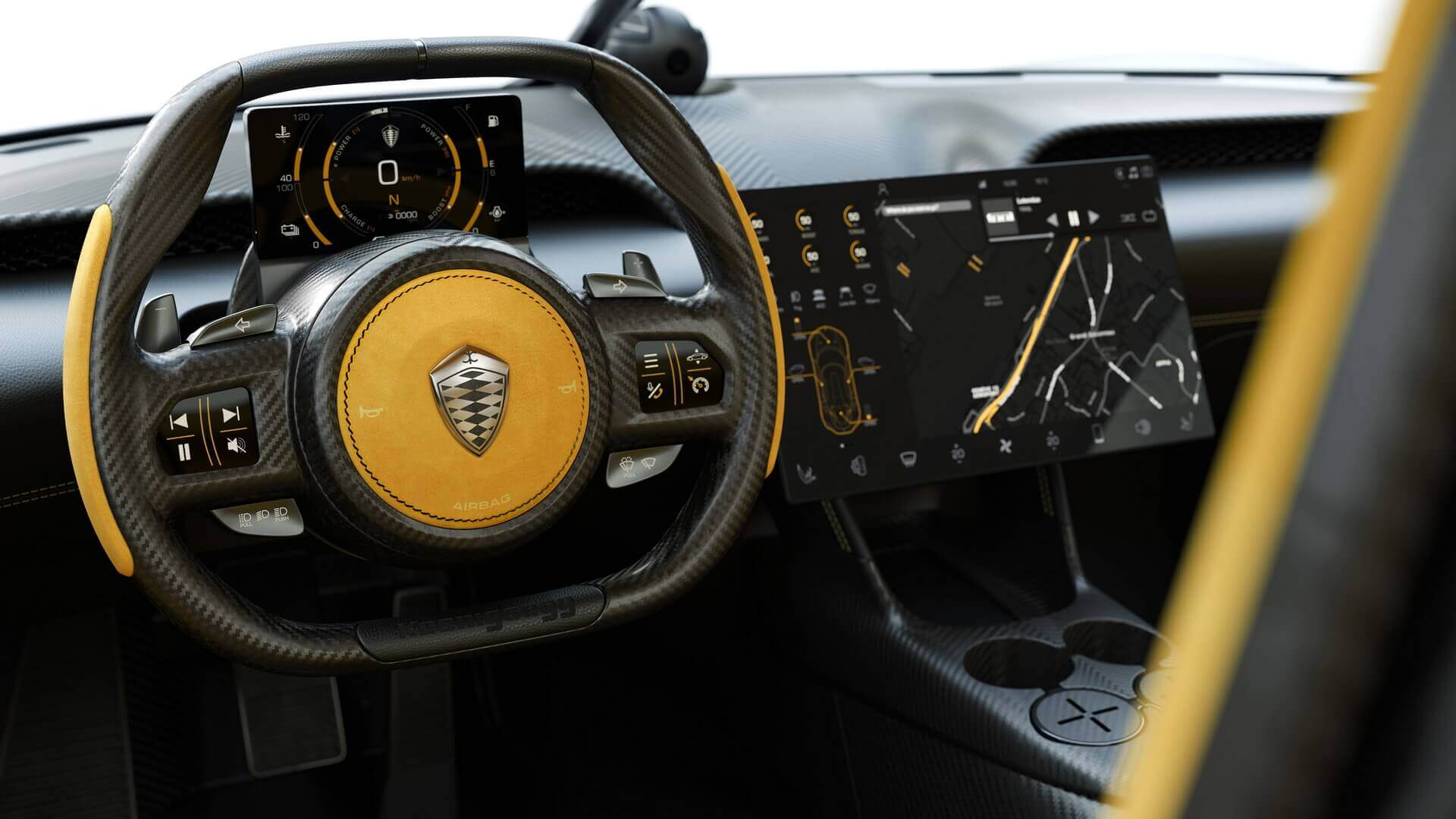Приборная панель Koenigsegg Gemera