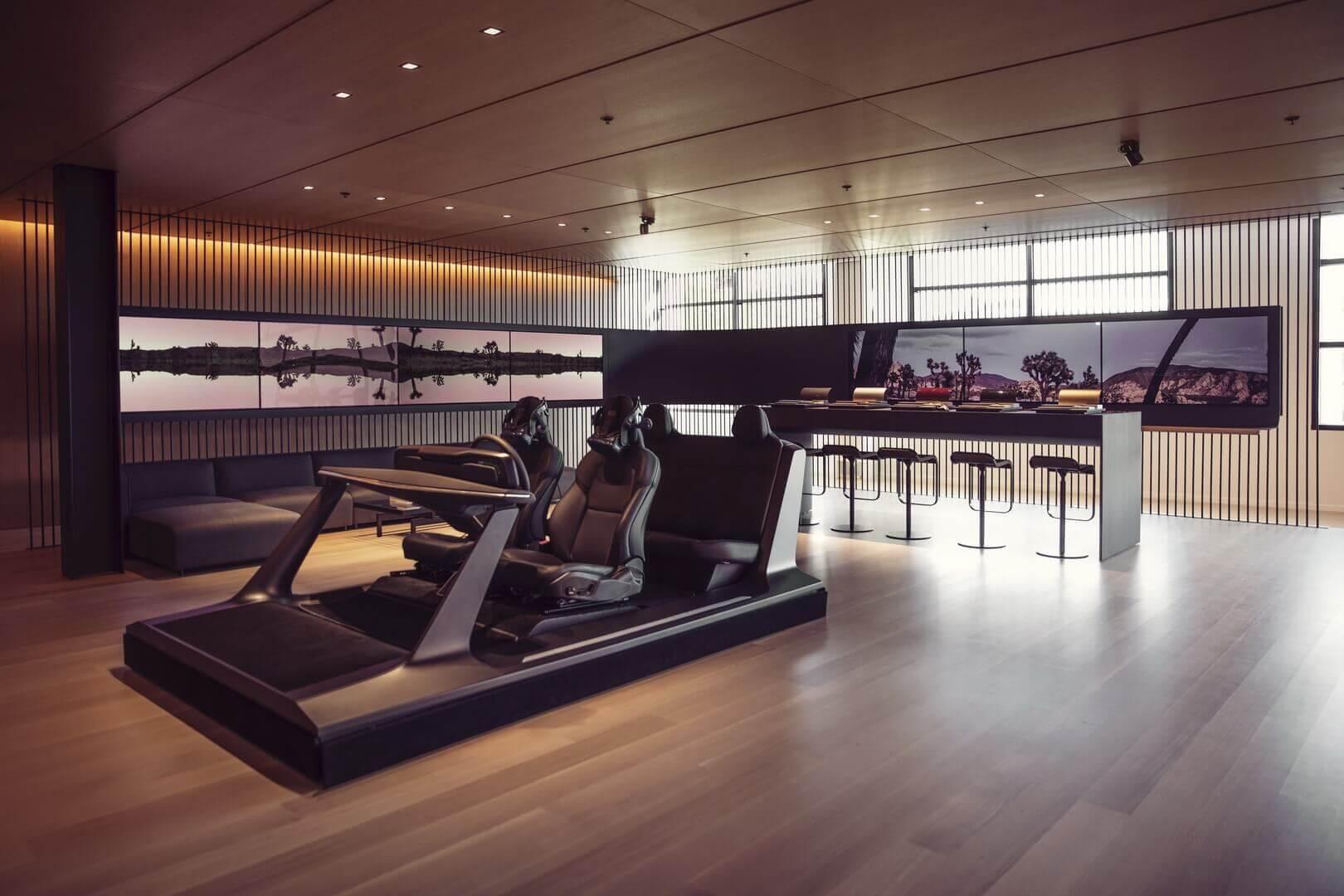 Выставочный зал Lucid Motors недалеко от штаб-квартиры компании в Силиконовой долине