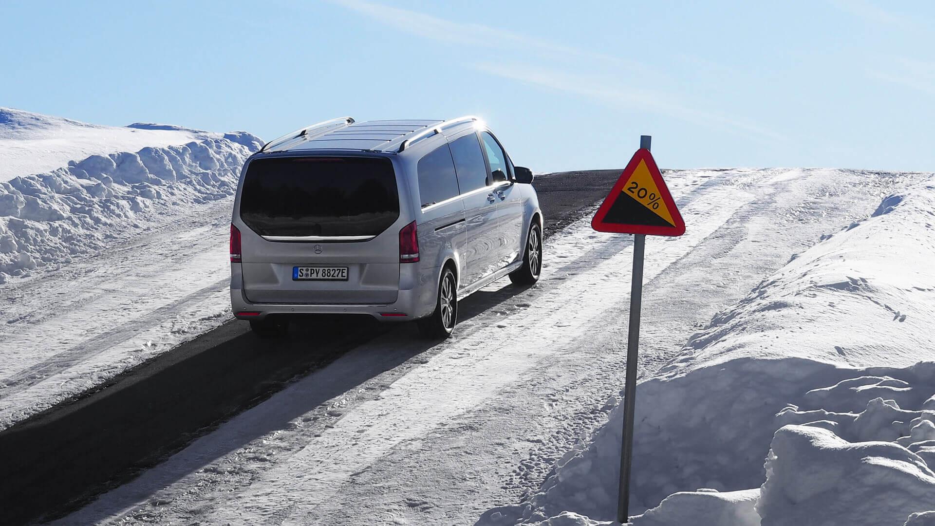 Mercedes-Benz EQV превосходно справился с зимними тестами