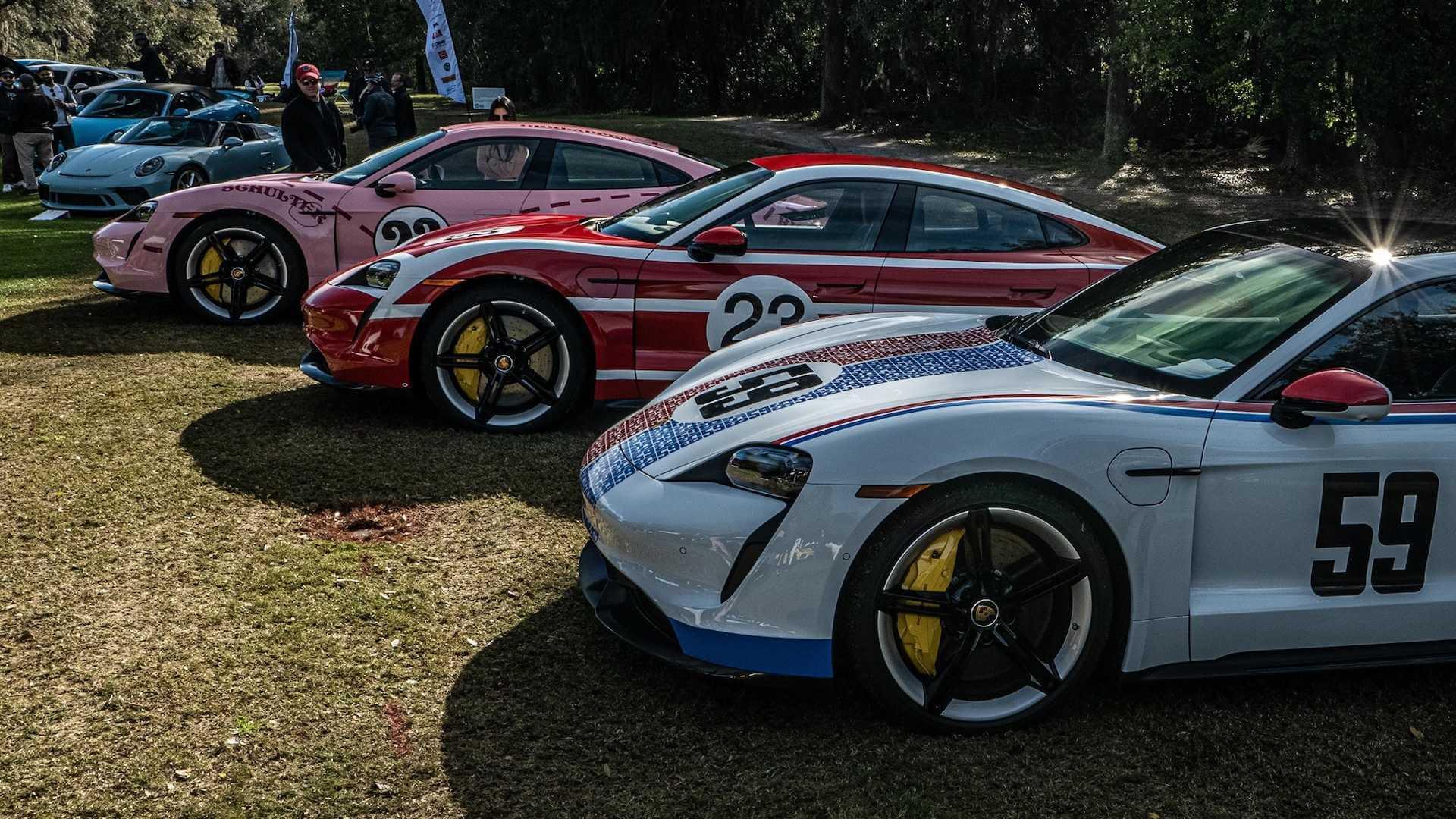 Гоночные ливреи для Porsche Taycan: готовят чемпиона?