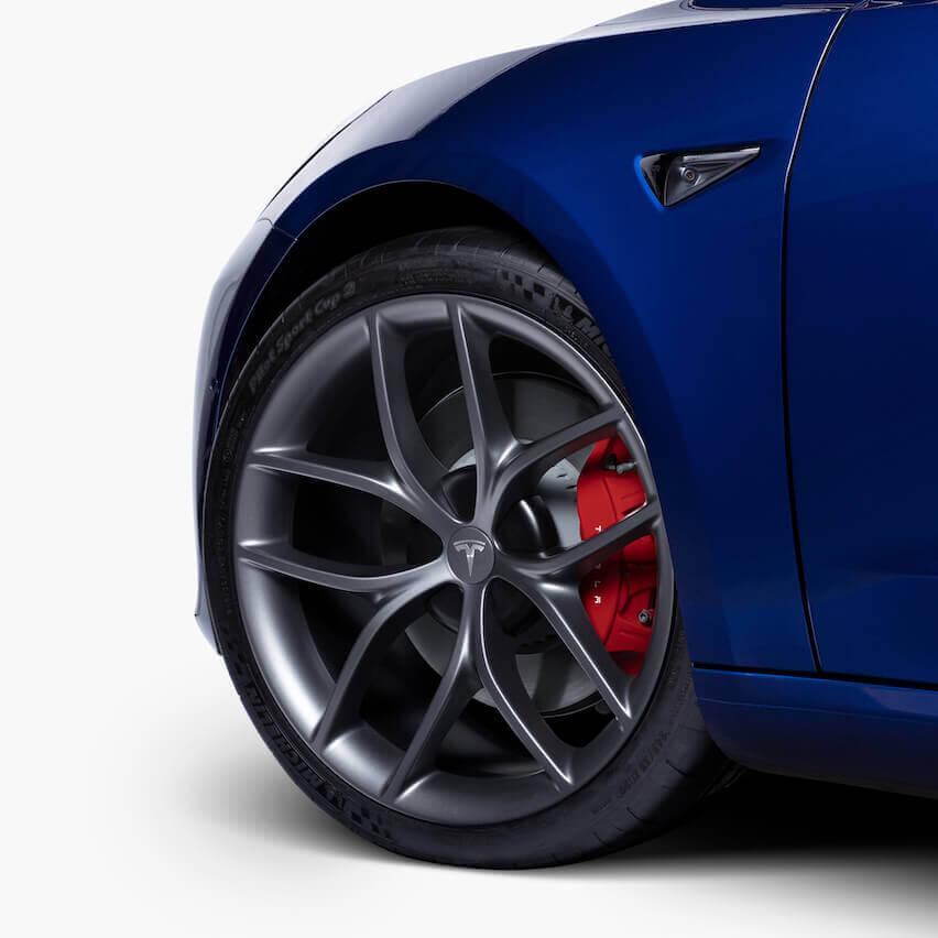 20-дюймовые колеса Zero-G Performance и шины Michelin Pilot Sport Cup 2 для Model 3