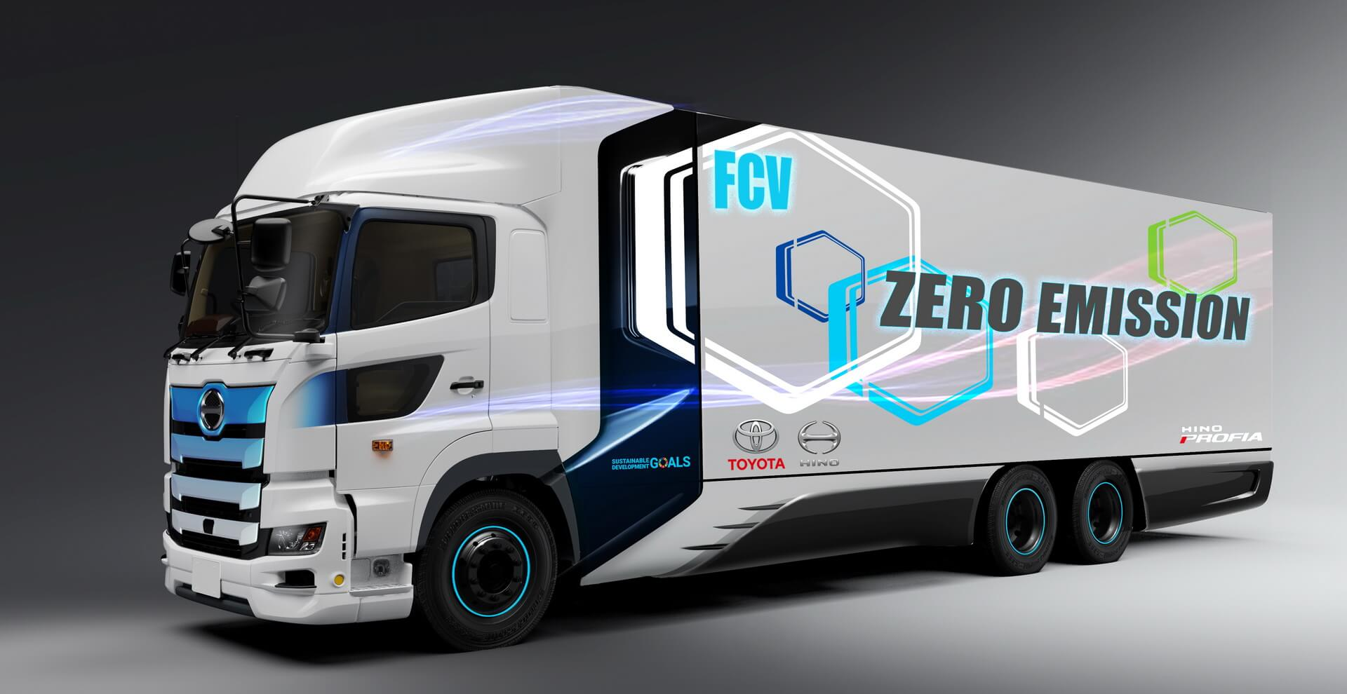 Сверхмощный грузовик Toyota/Hino на топливных элементах с запасом хода 600 км