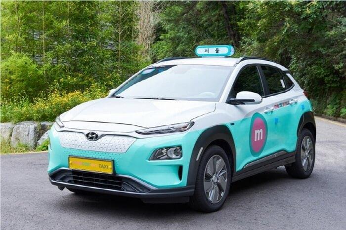 Hyundai Kona Electric в службе такси Сеула