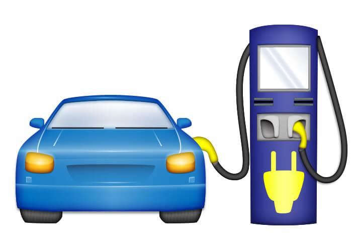 Эмодзи «Электрический автомобиль с зарядным устройством» от Electrify America