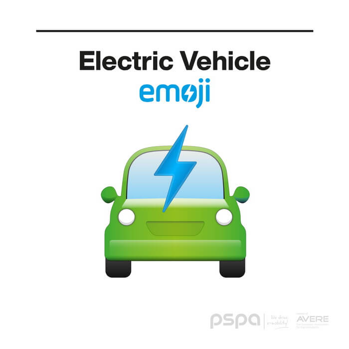 Эмодзи «Электрический автомобиль»