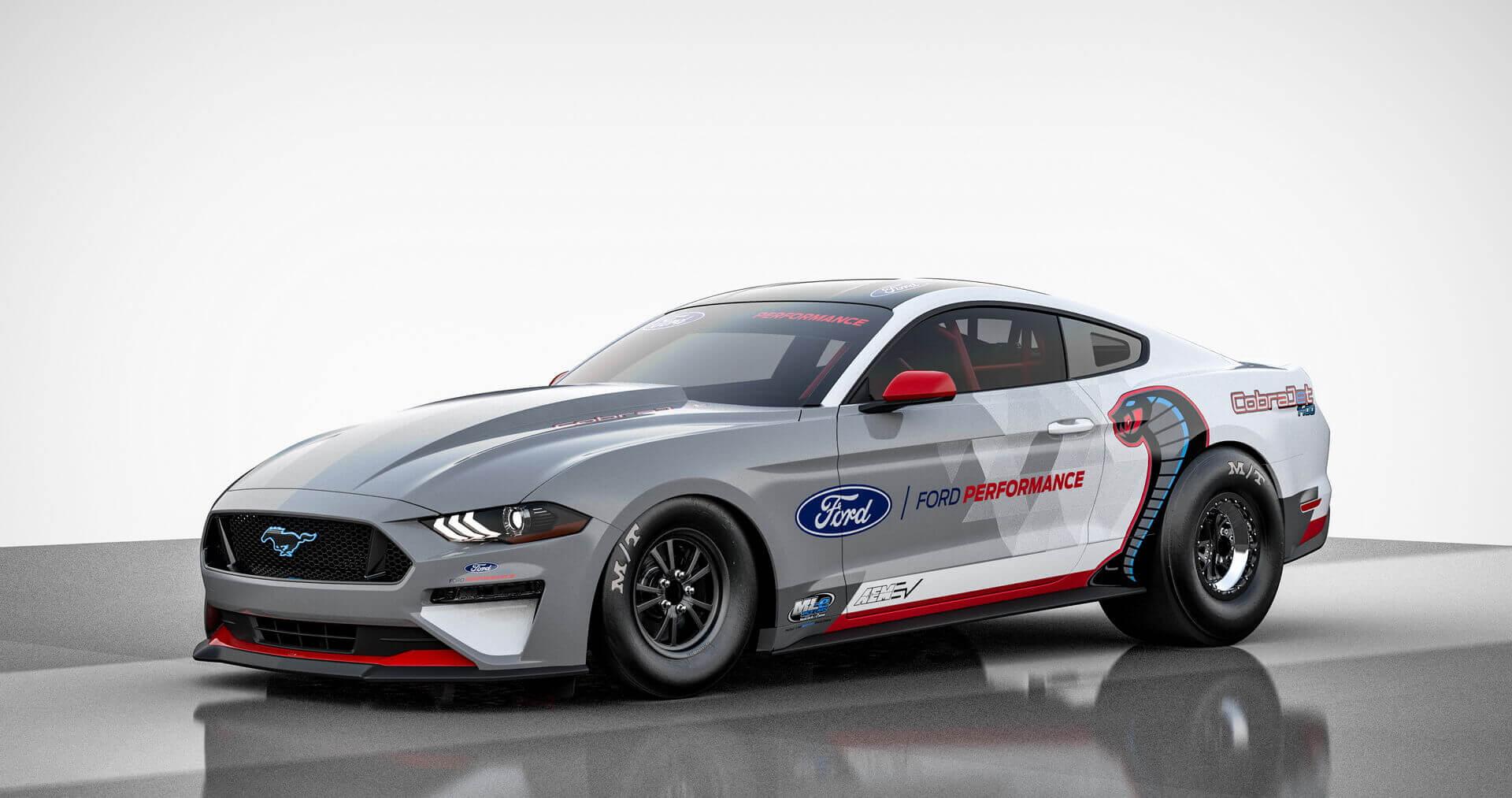 Ford раскрывает электрический драгстер Mustang Cobra Jet 1400