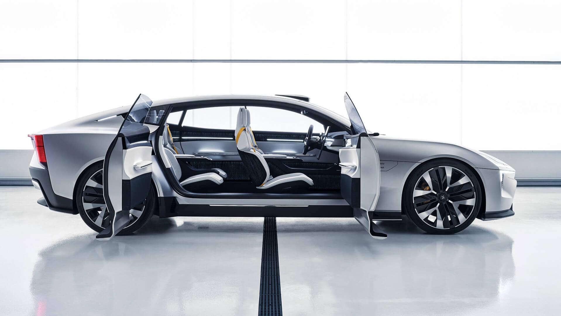 Будущее Polestar: экологичный и инновационный седан Precept
