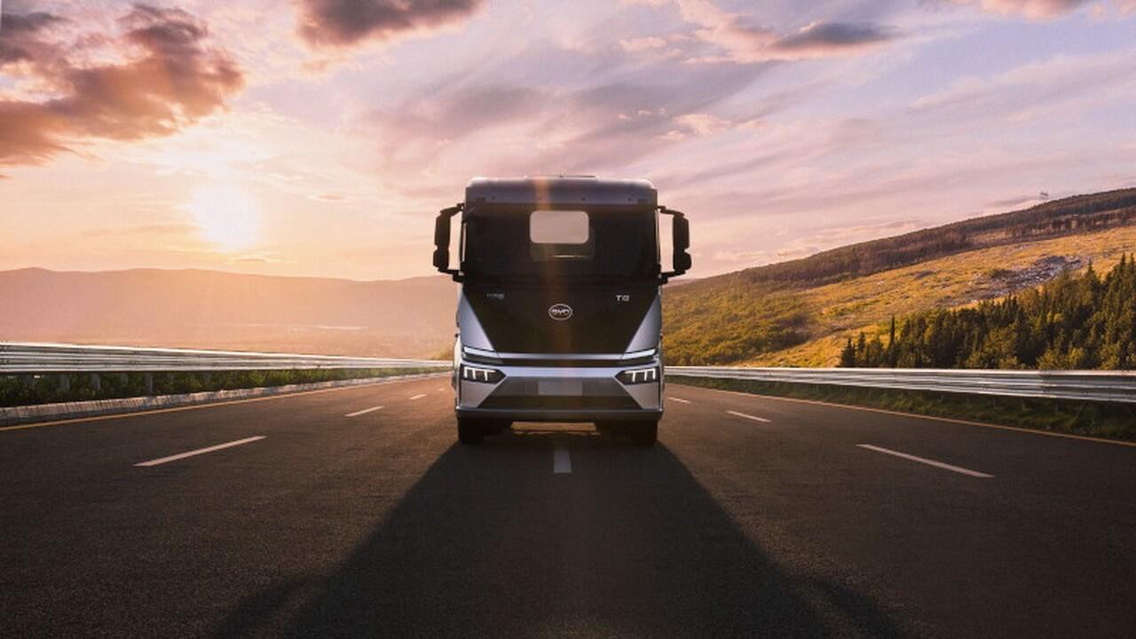 19-тонный распределительный электрический грузовик BYD