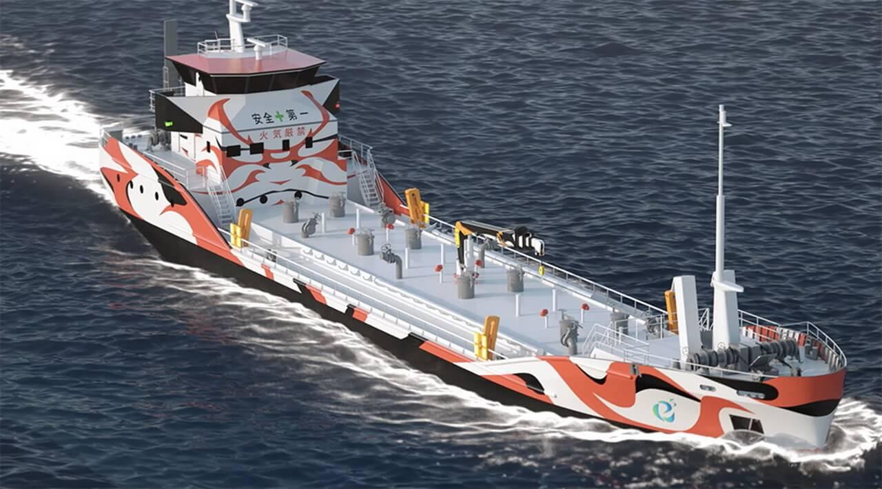 В Японии построят первые в мире полностью электрические грузовые суда