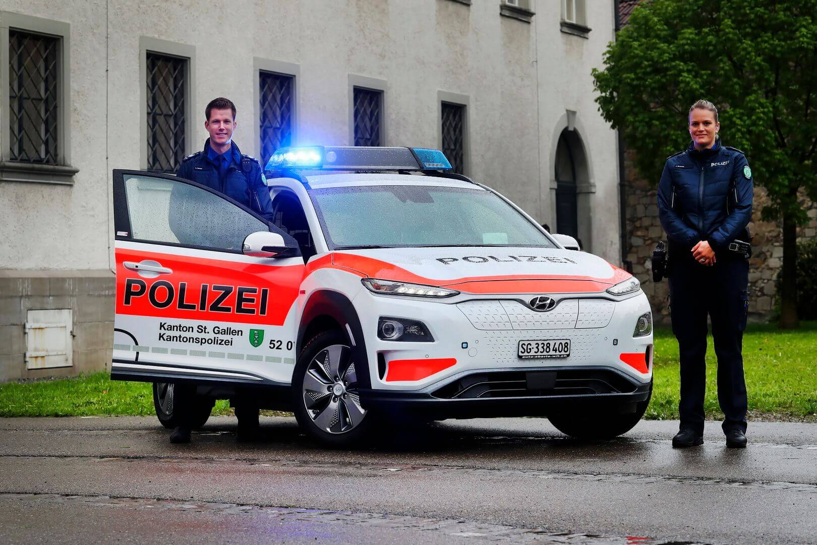 Hyundai  Kona Electric полиции Санкт-Галлена в Швейцарии