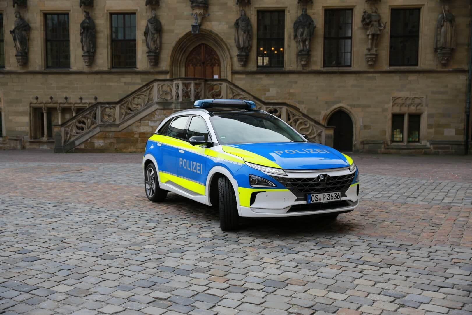 Водородный Hyundai NEXO на службе полиции в Германии