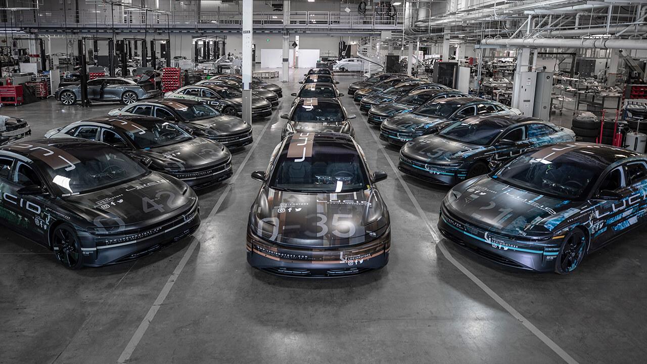 Lucid Motors выпустила тестовый автопарк из 40 моделей Air