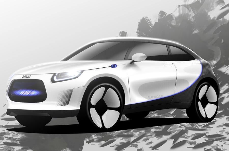 Собственный рендер электрокроссовера Smart от Autocar