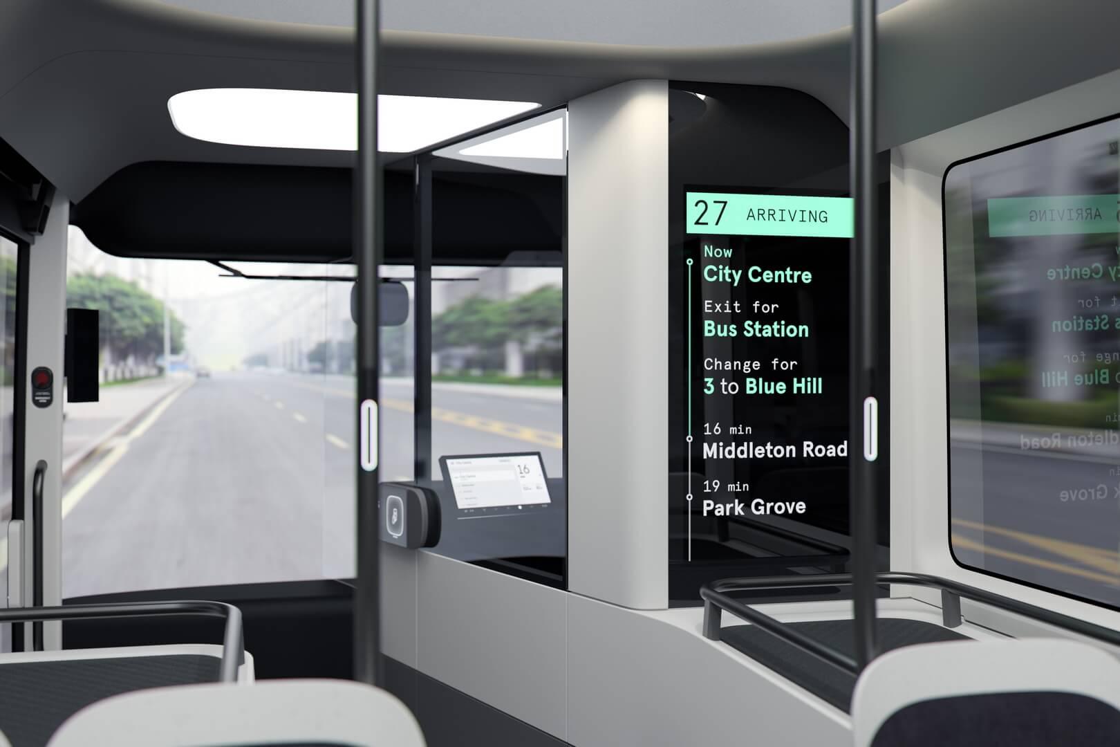 Салон электрического автобуса Arrival