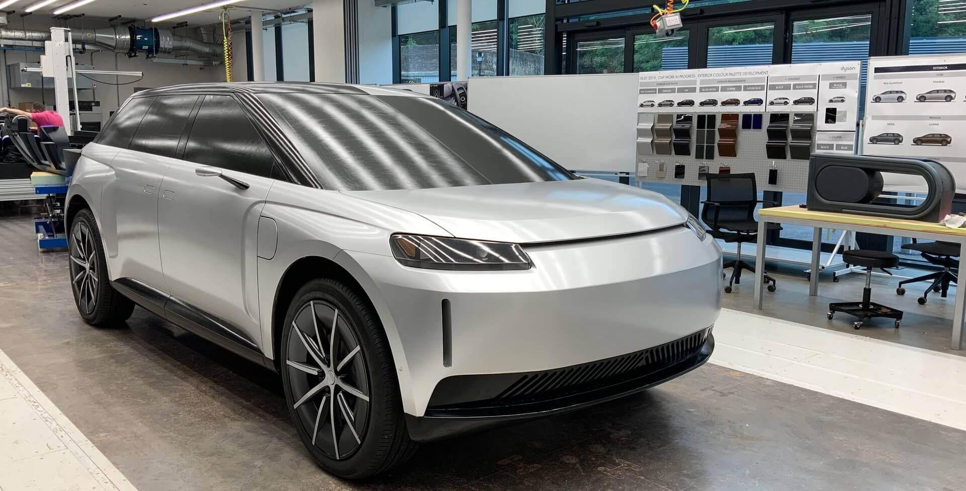 Пневматическая подвеска электромобиля Dyson позволяла настроить электромобиль натрех различных высотах кузова