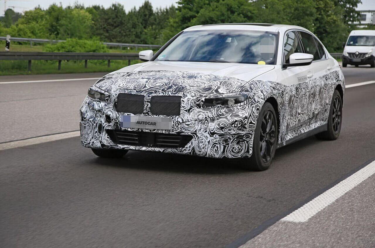 Шпионский снимок электрической версии BMW 3 Series для Китая