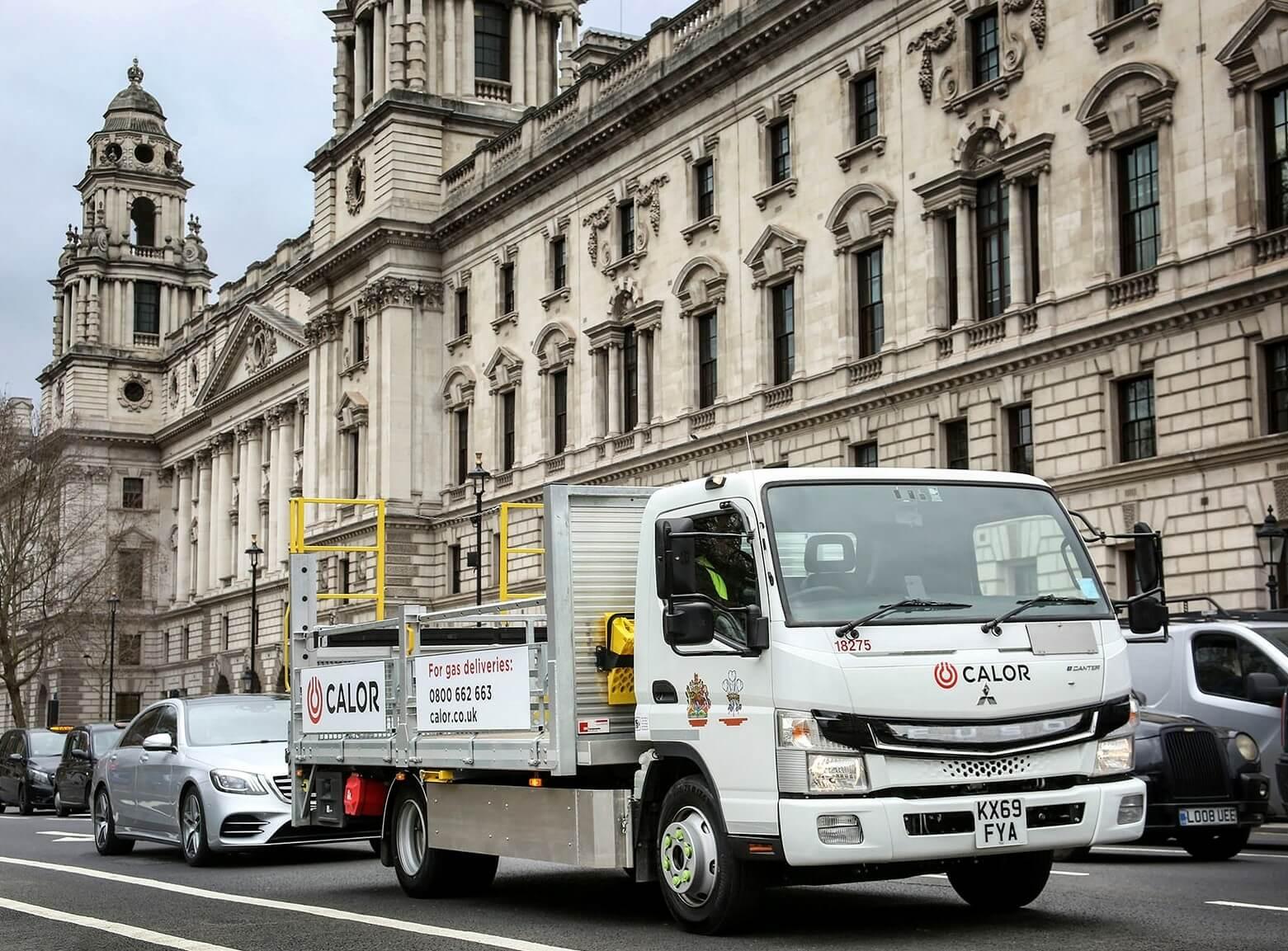 Fuso eCanter используются для доставки газа в баллонах в Лондоне
