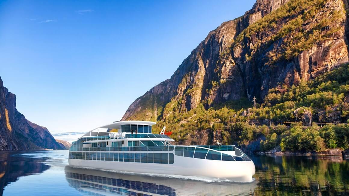 Концепт 70-метрового электрического экскурсионного корабля на 800 пассажиров