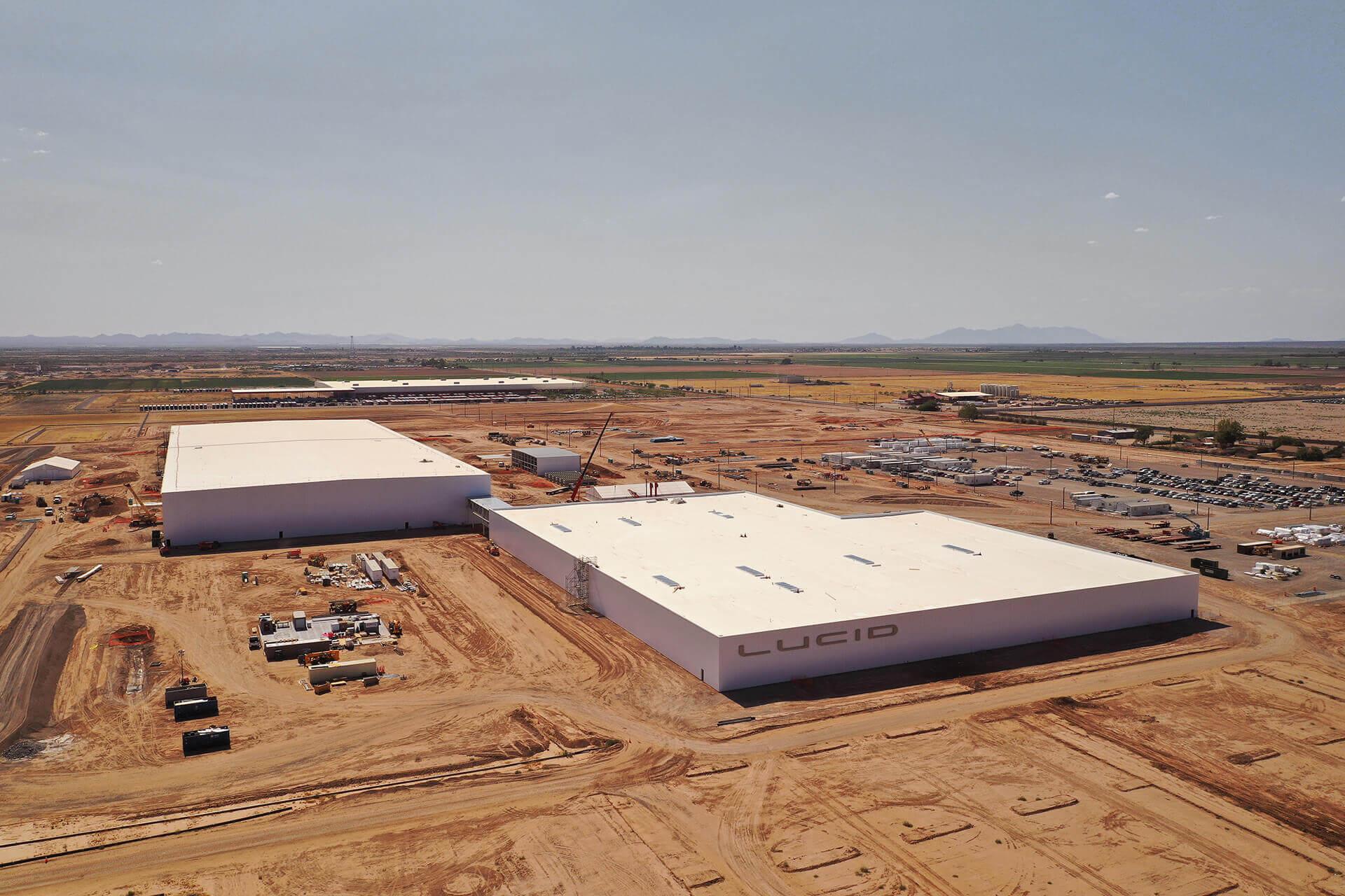 Lucid Motors показала на каком этапе строительство завода в Аризоне