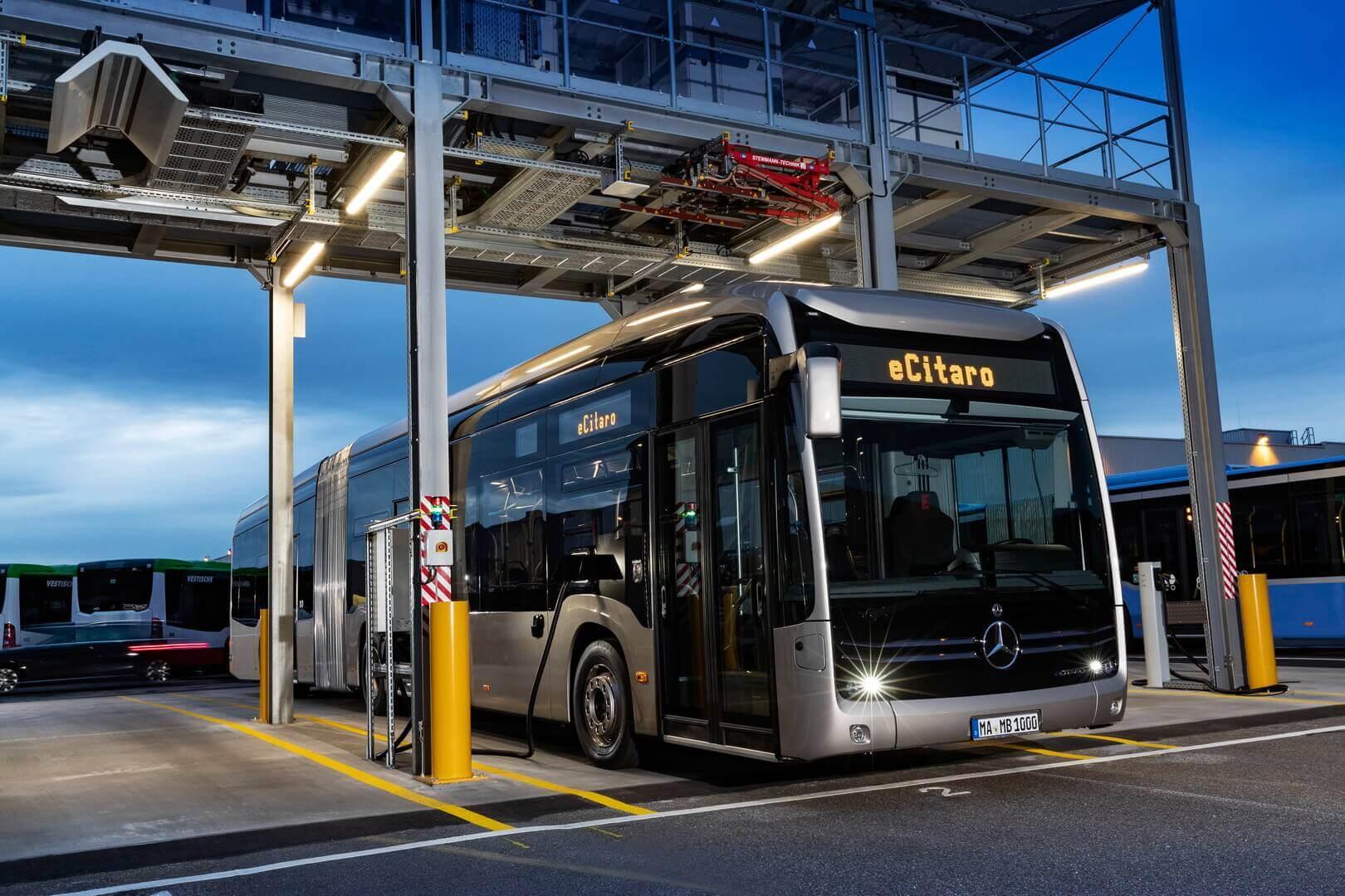 Mercedes-Benz анонсировал электрический сочлененный автобус eCitaro G на 146 пассажиров