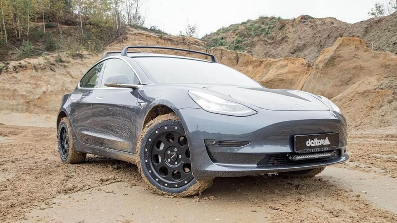 Внедорожный пакет Delta 4x4 повысит проходимость Tesla Model 3