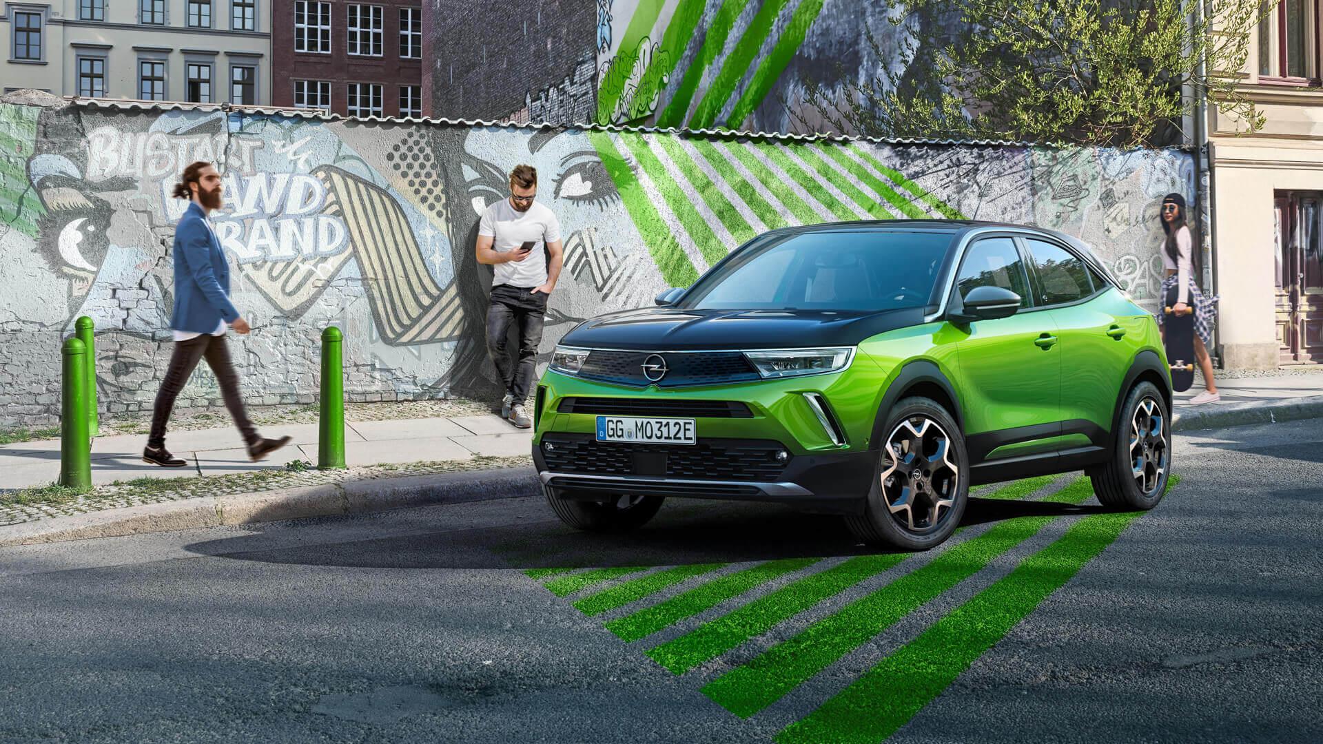 Mokka является первой моделью Opel, демонстрирующей новую фирменную переднюю панель Opel Vizor