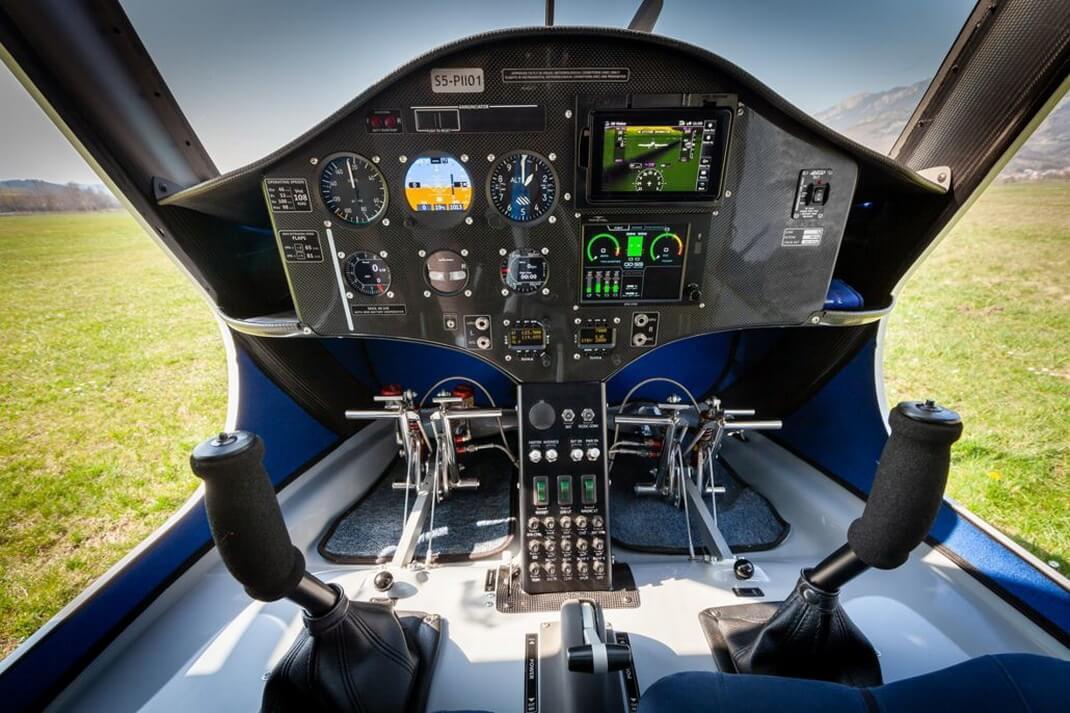 Кабина электрического самолета Pipistrel Velis Electro