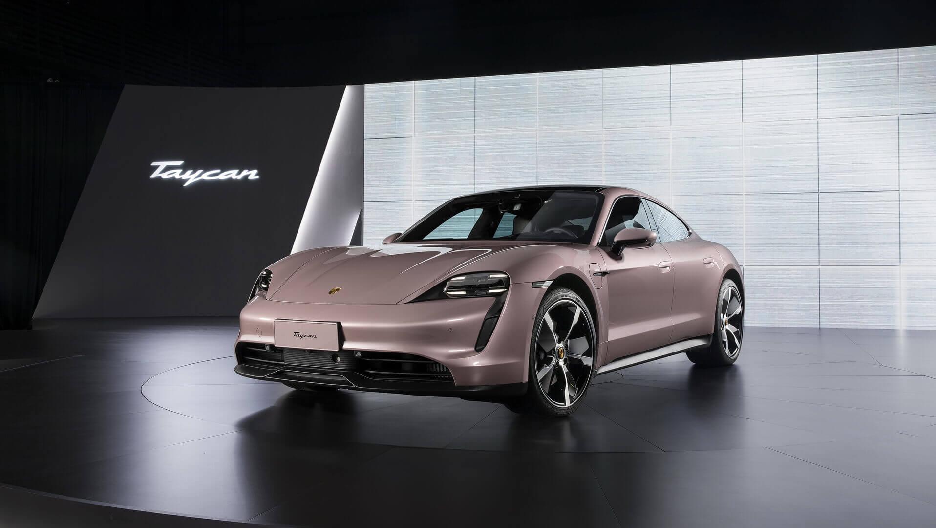 Porsche представляет версию Taycan с одним двигателем для Китая