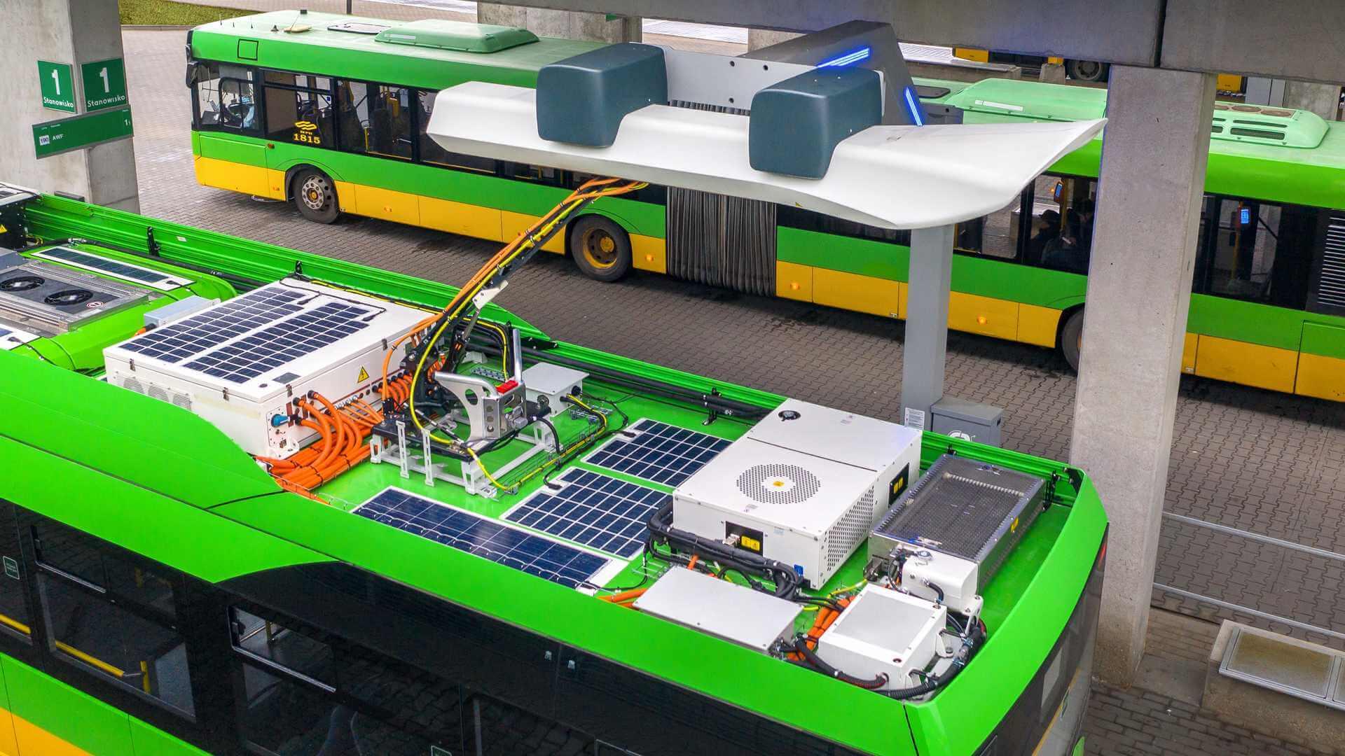 Пантограф для быстрой зарядки электрических автобусов Solaris