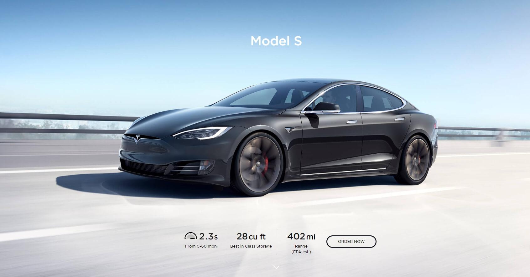 Tesla Model S — первый серийный электромобиль с пробегом более 400 миль (647 км)