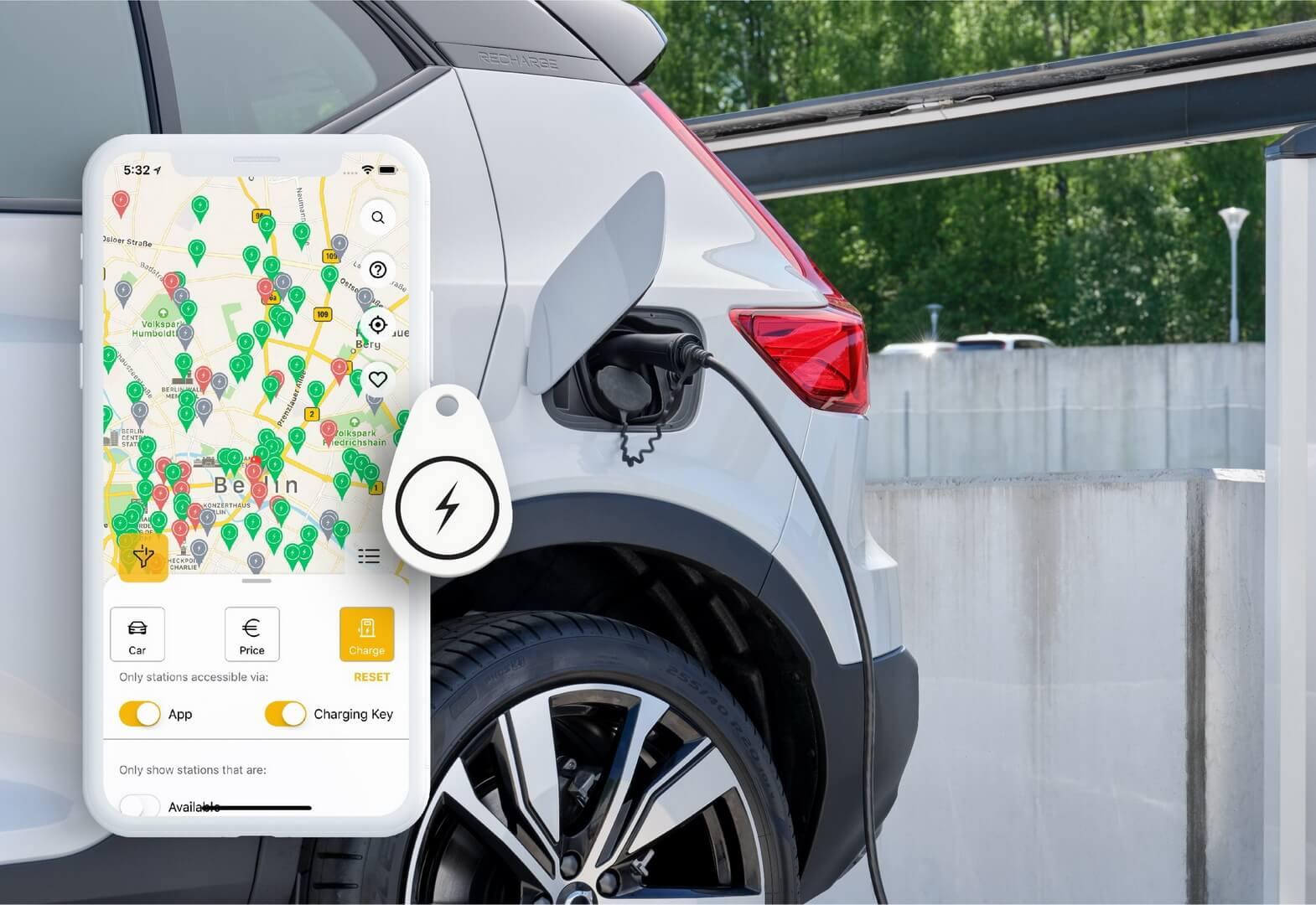 Volvo и Plugsurfing предлагают общеевропейскую услугу зарядки для электромобилей