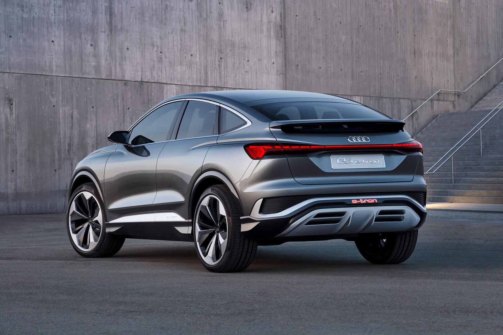 Audi представляет концепт электрического купе-кроссовера Q4 Sportsback e-tron