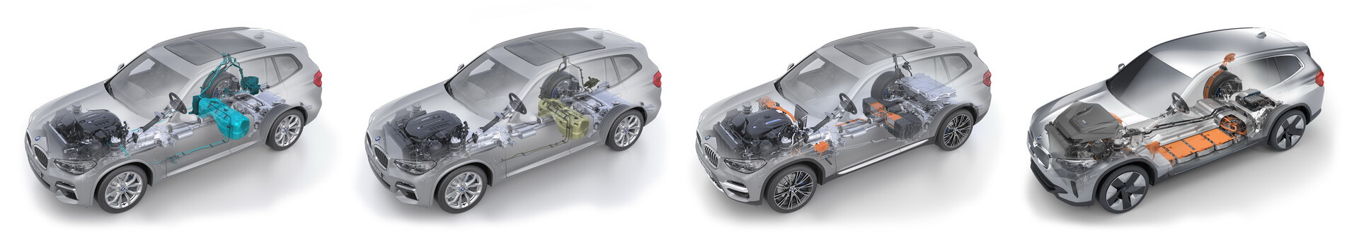 BMW X3является первой моделью, которая будет доступна со всеми видами приводов