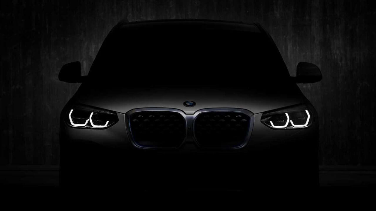 Тизер серийной версии электрического кроссовера BMW iX3