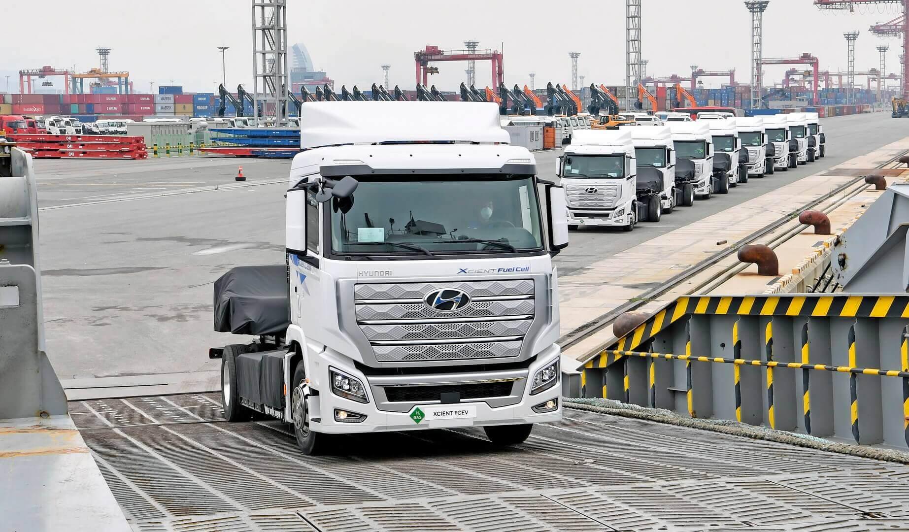 Hyundai отправила в Швейцарию первые 10 единиц грузовиков XCIENT Fuel Cell