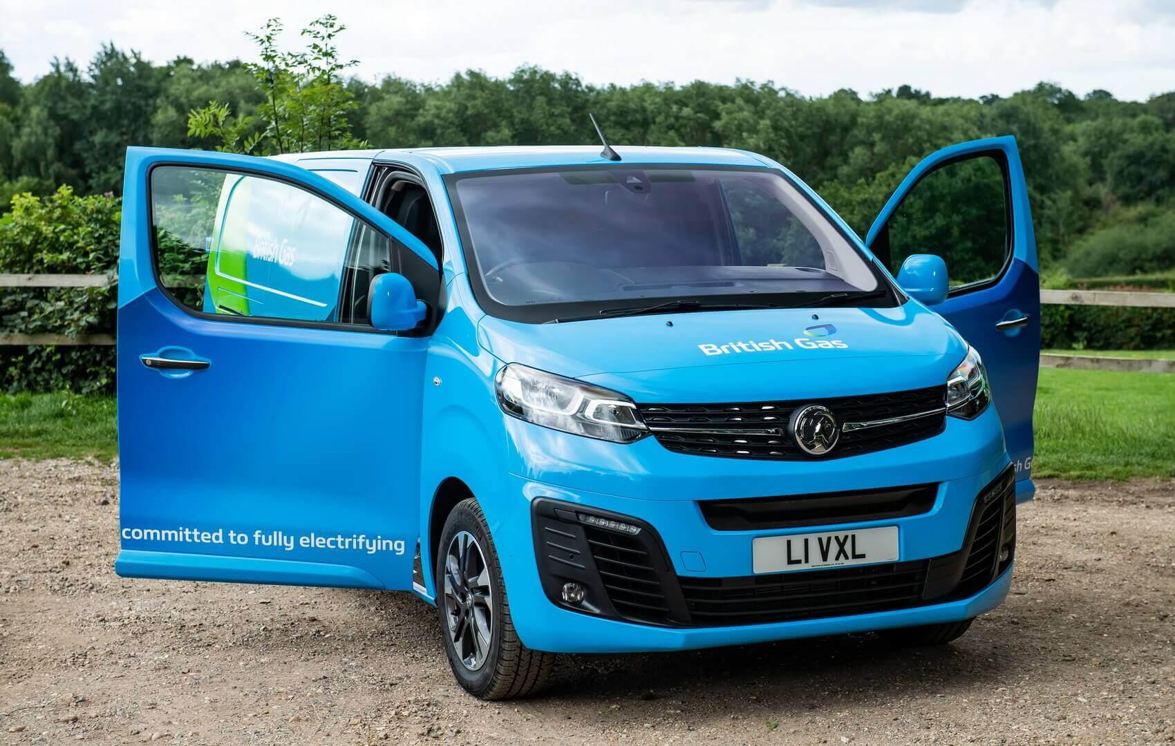 Компания British Gas заказала у Vauxhall 1000 электрических фургонов Vivaro-e