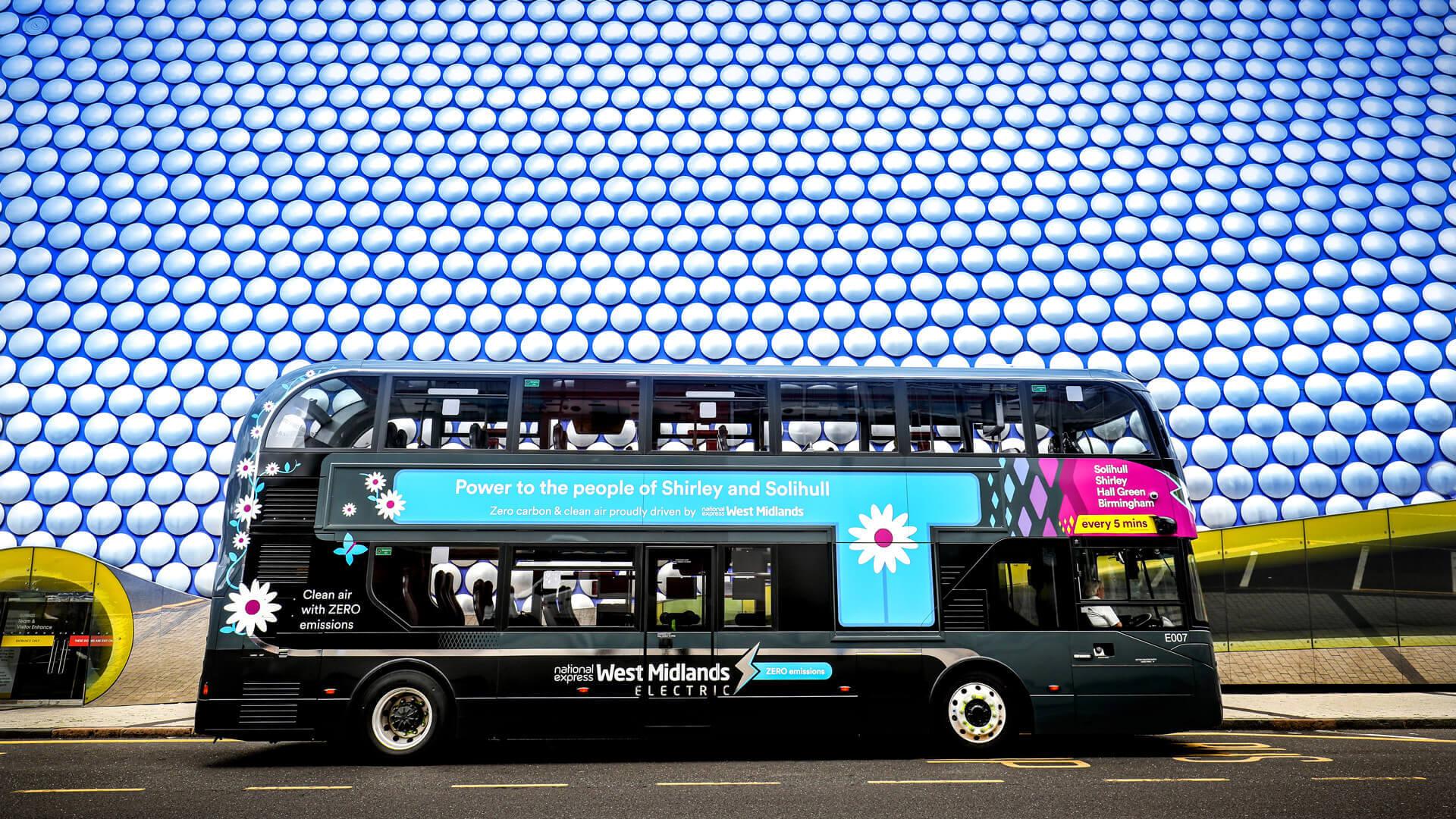 Двухэтажный электрический автобус BYD ADL Enviro400EV для National Express West Midlands