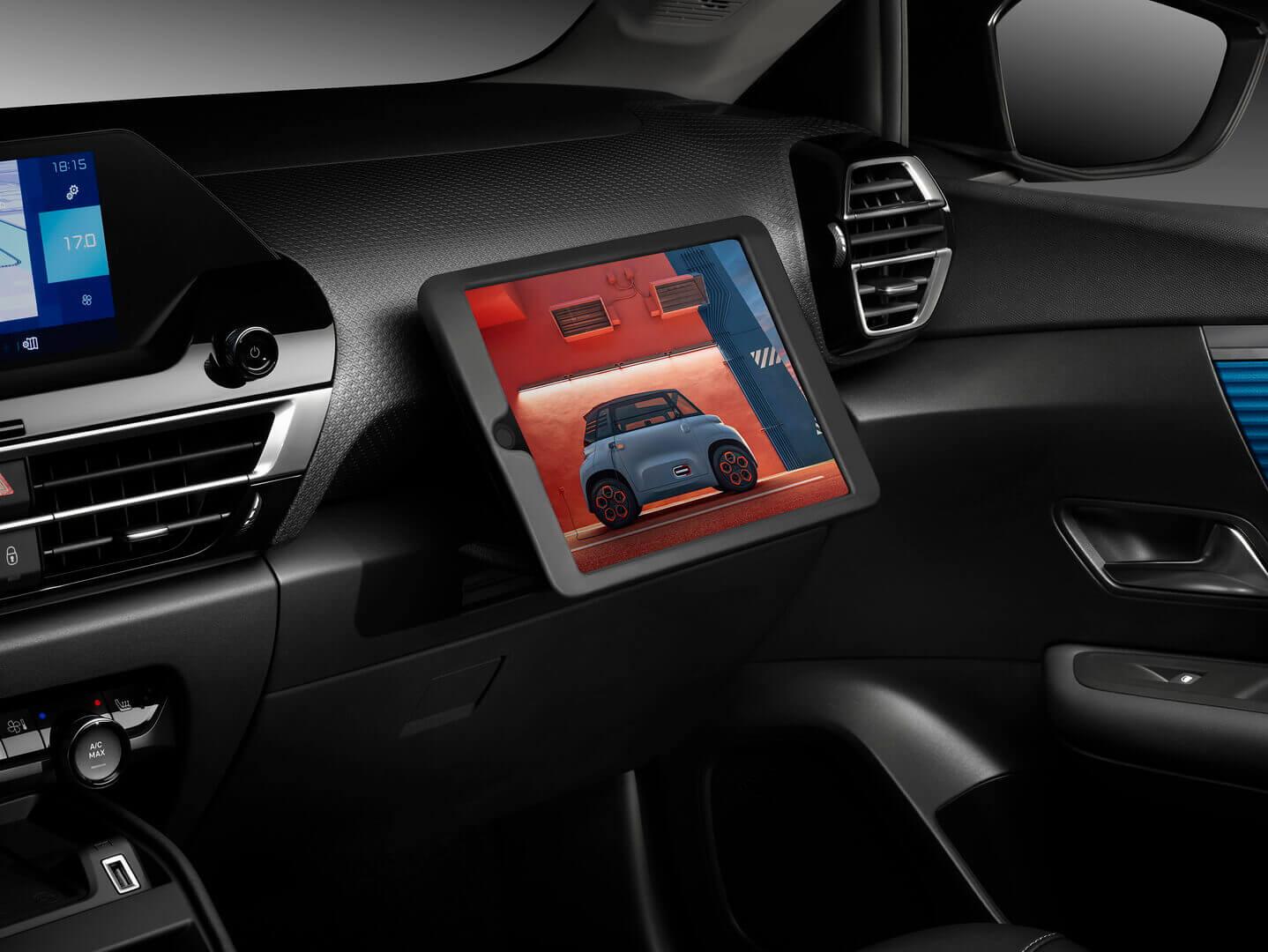 Специальный держатель для планшета настороне пассажира