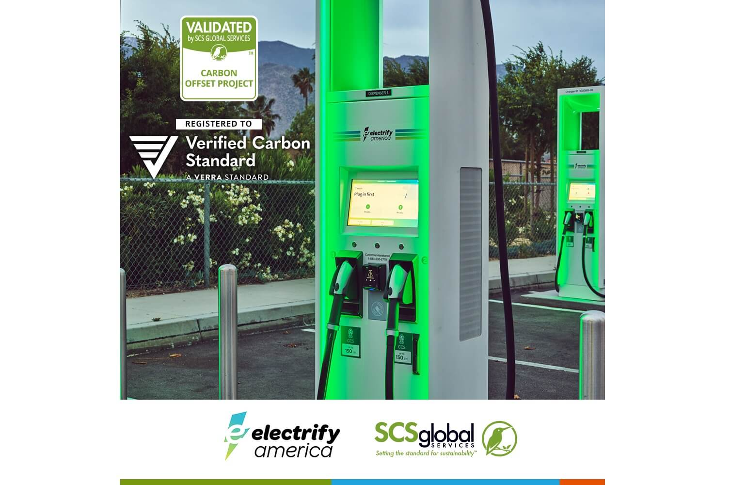 Electrify America объявила о первой в мире проверке проекта по компенсации выбросов углерода для инфраструктуры зарядки электромобилей