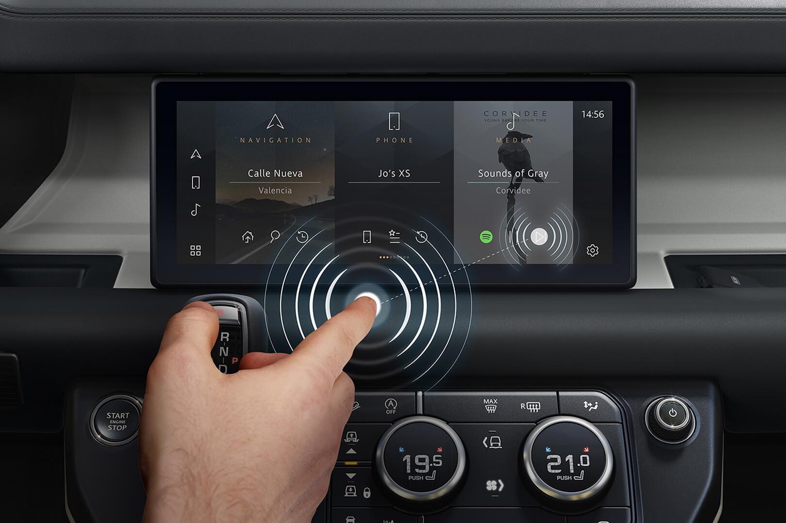 Jaguar Land Rover разработал технологию «предполагаемое касание» для сенсорных экранов автомобилей