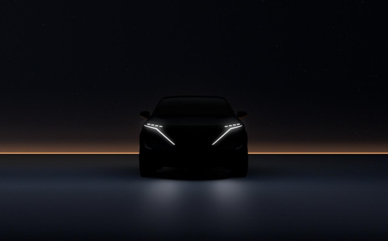 Nissan представляет новый тизер электрокроссовера Ariya