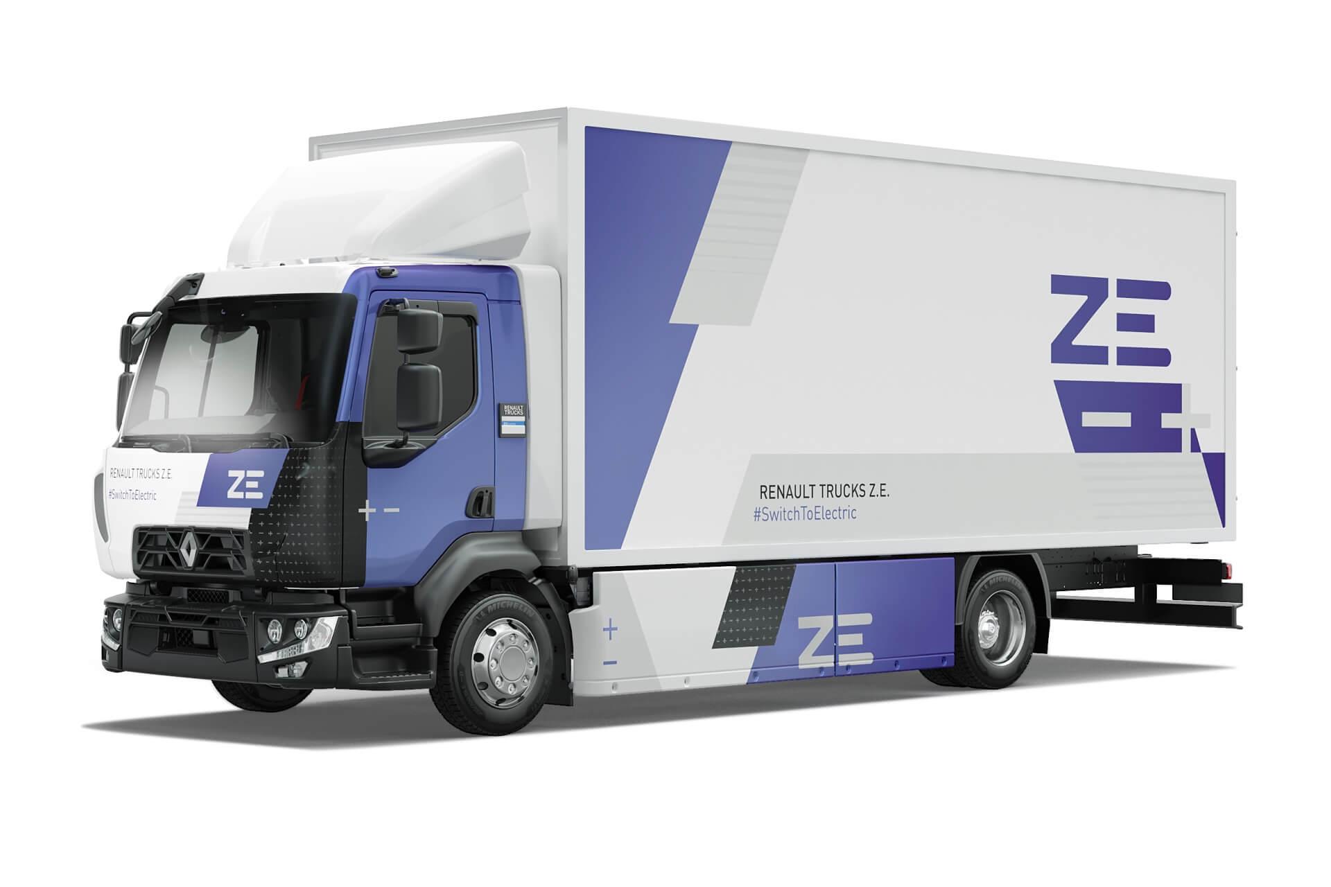 16-тонный электрический грузовик Renault D Z.E.