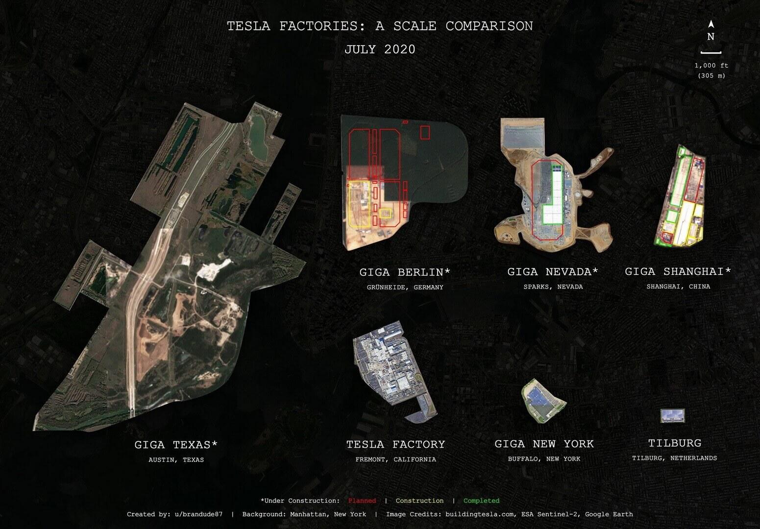 Создана карта показывающая невероятный потенциал Tesla Giga Texas
