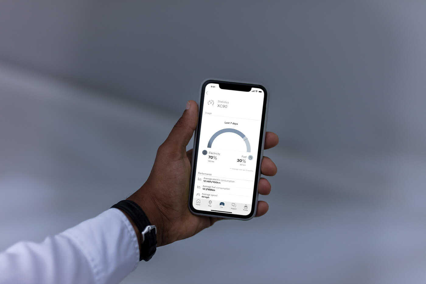 Приложение Volvo on Call покажет владельцам PHEV-авто данные об использовании автомобиля на электротяге