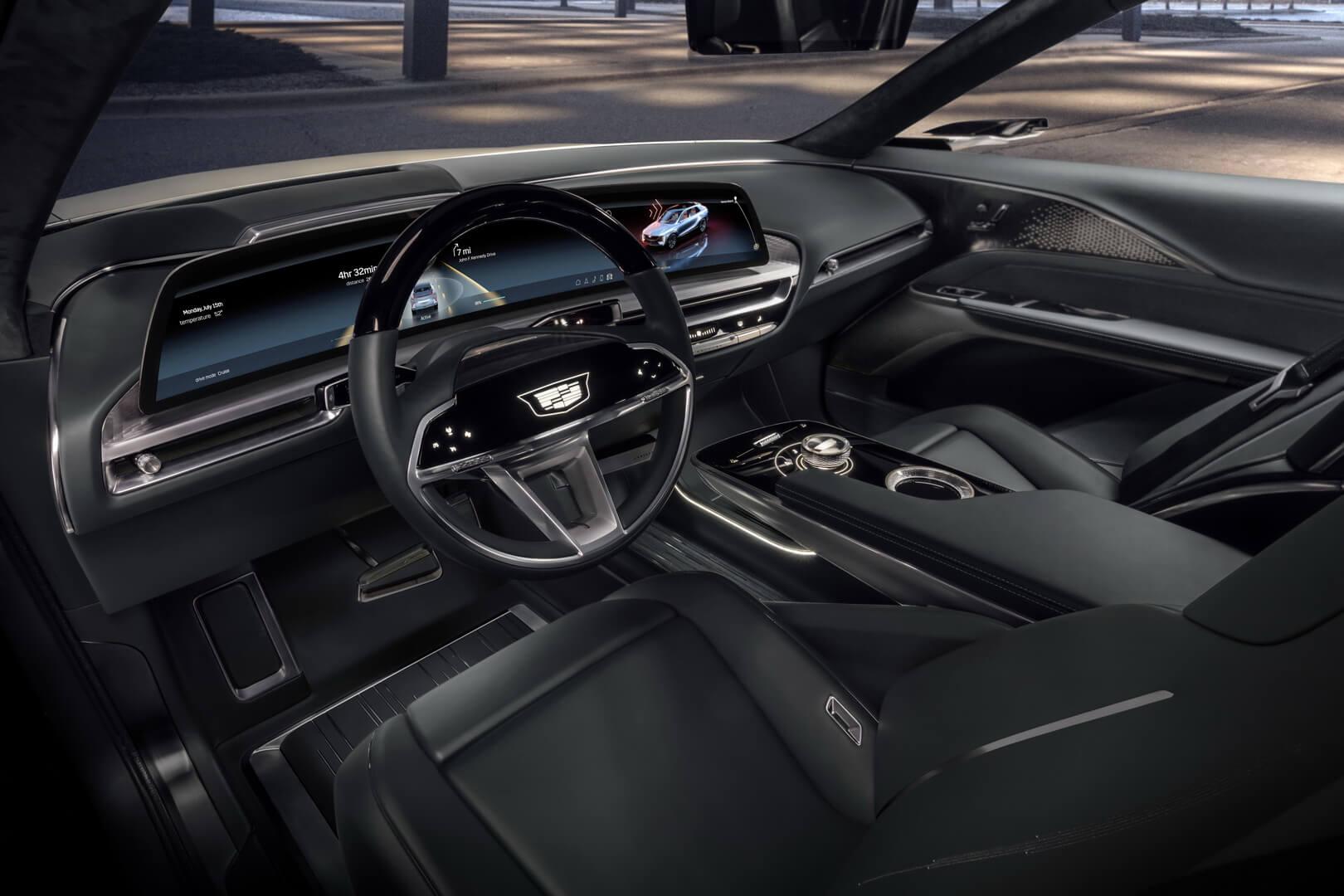 Пользовательский интерфейс Cadillac LYRIQ создан с помощью индустрии видеоигр