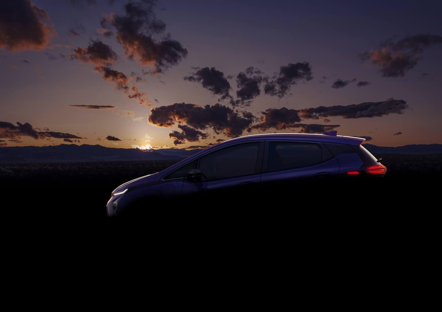 Тизер электрического хэтчбека Chevrolet Bolt EV 2021