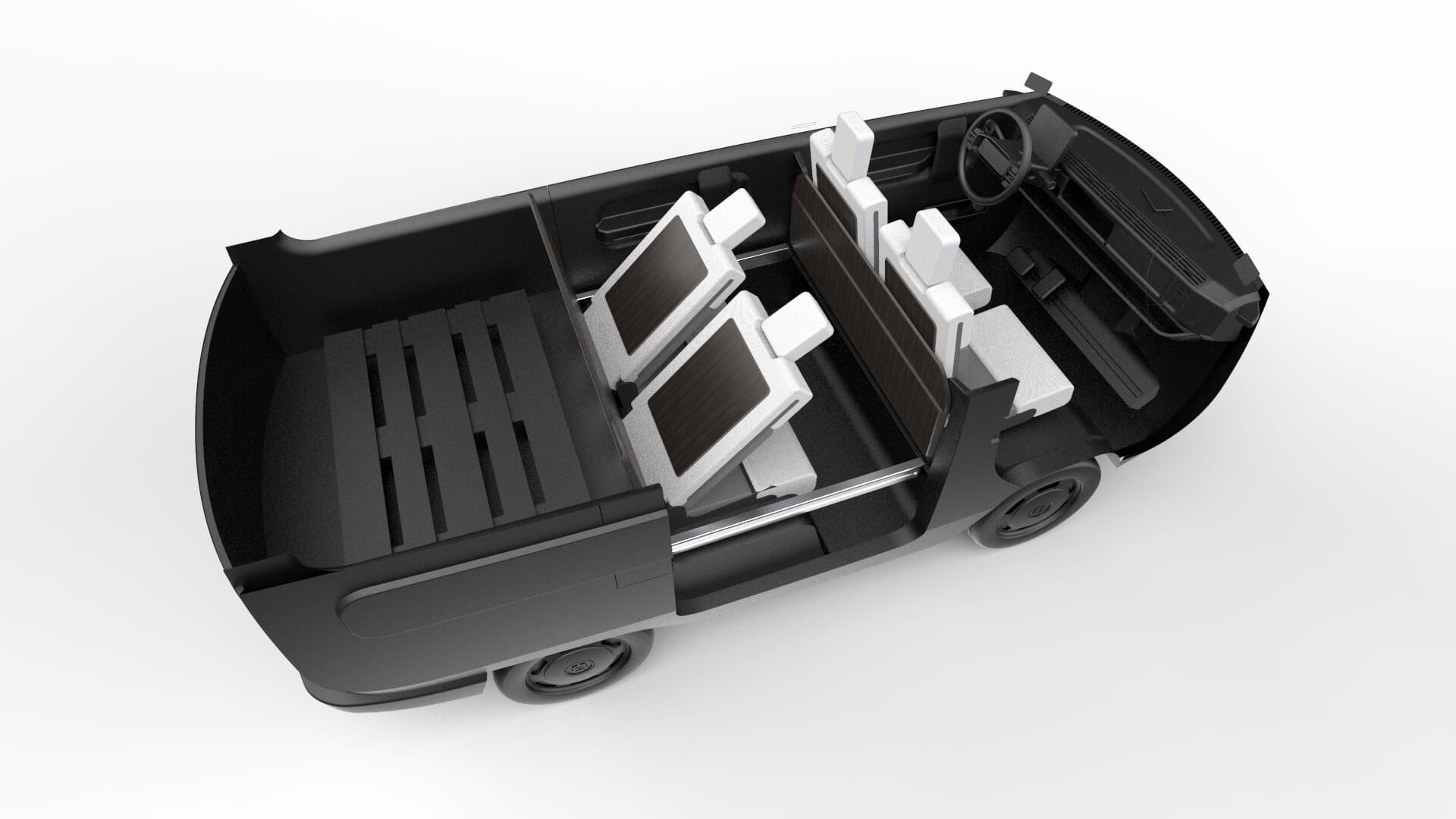 eBussy — это модульный электромобиль в 10 различных вариантах кузова