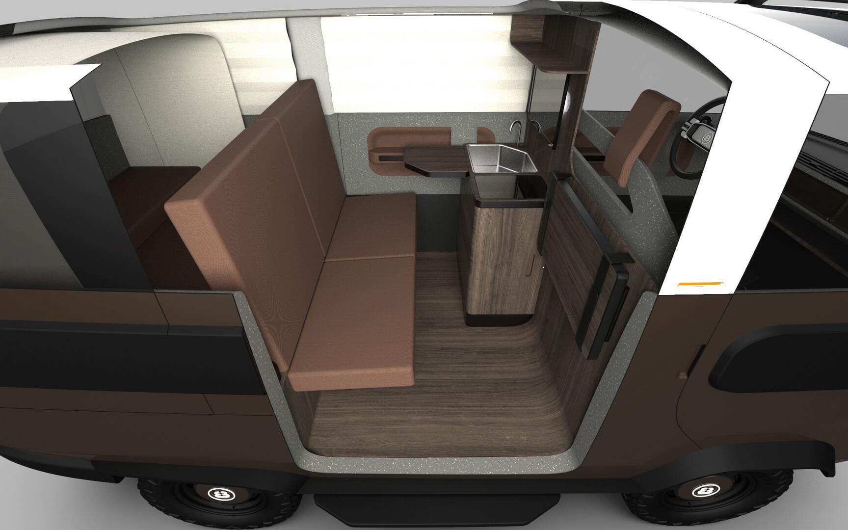 eBussy – миниатюрный коммерческий автомобиль с 10 возможными конфигурациями