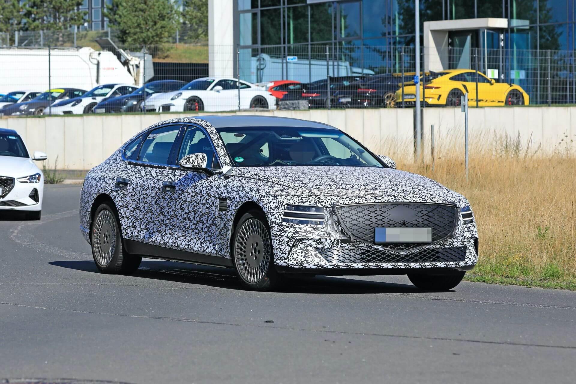 Genesis eG80: шпионский снимок конкурента Tesla Model S и Mercedes-Benz EQS